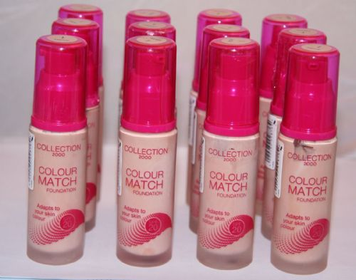 12 x Collection 2000 Colour Match Foundation | Fair | RRP £48